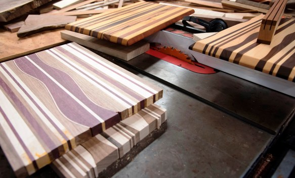 Creating each piece is a process at Lula Woodworks. (Brittany Faush / Alabama NewsCenter)