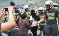 UAB players honored Children's Harbor and the children it serves by wearing their names on jerseys Saturday. (Solomon Crenshaw Jr./Alabama NewsCenter)