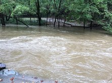 Flooding can make accessing areas difficult when restoring power. (Donna Cope / Alabama NewsCenter)