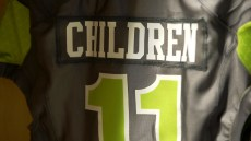 Quarterback A.J. Erdely's jersey honors all the children fighting illness who are served by Children's Harbor at Children's of Alabama. (UAB Athletics)