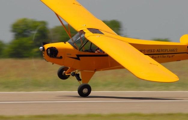 Greg Koontz flies his Piper Cub. (Greg Koontz)