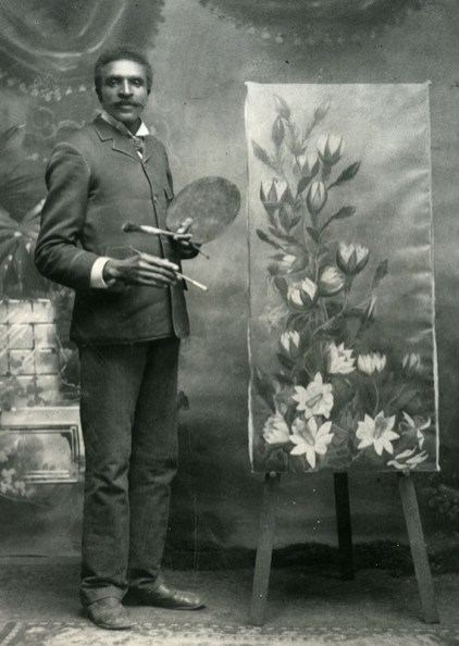 George Washington Carver enrolled in college as an art major, but after seeing his skill at hybridizing plants, his art teacher suggested he study horticulture at Iowa State College of Agricultural and Mechanic Arts (now Iowa State University). (From Encyclopedia of Alabama, courtesy of the Tuskegee University Archives)