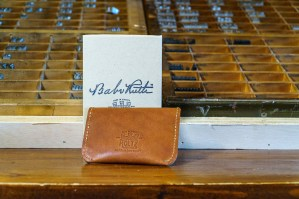 The Babe Ruth signature wallet is Holtz Leather's biggest seller so far. (Mark Sandlin / Alabama NewsCenter)