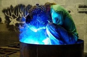 High-tech tools meet old-fashioned craftsmanship at Alabama Iron Works. (Mark Sandlin / Alabama NewsCenter)