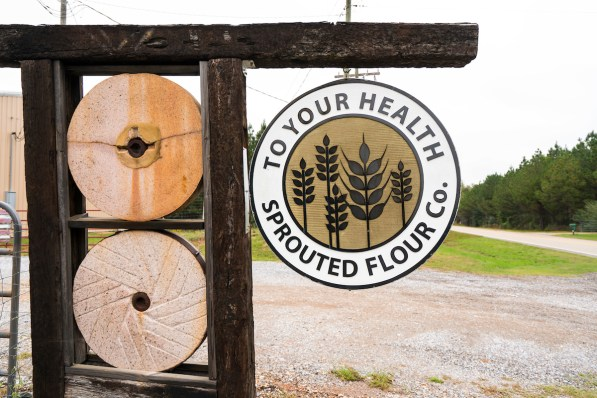 To Your Health Sprouted Flour Company initially occupied a space in Jeff Sutton's barn, but it now takes up three production buildings and produces 80,000 pounds of flour per week. (Mark Sandlin / Alabama NewsCenter)
