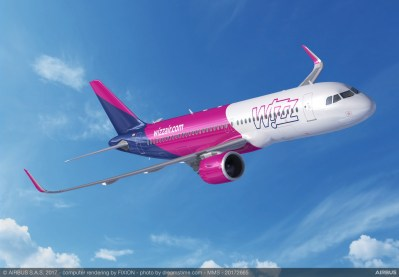 Indigo Partners' deal includes A320neo planes for Wizz Airlines. (Airbus)
