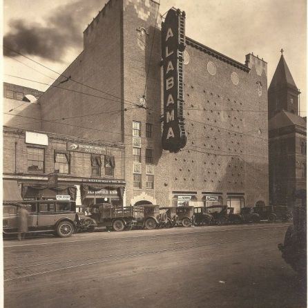 A view of the Alabama Theatre AlabamaTheatre from 18th Street in 1927. (Contributed)