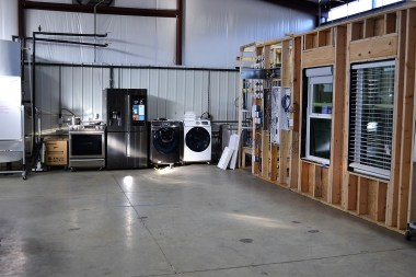 Southern Company Services' research and development lab tests smart appliances that will be integrated in Smart Neigborhood homes under construction in Hoover's Ross Bridge community. (Katie Bolton / Alabama NewsCenter)