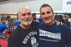 Gary Ellis and Chris Wheeles brought Rock Steady Boxing to Gulf Shores to take a swing at Parkinson's and give patients a place to wage their own fight at the disease. (Karim Shamsi-Basha / Alabama NewsCenter)