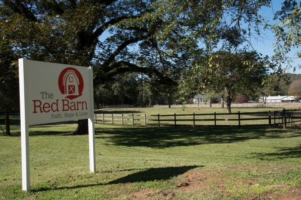 The Red Barn is a therapeutic horse farm that takes advantage of the natural beauty in Leeds' rural environs. (Brittany Faush / Alabama NewsCenter)