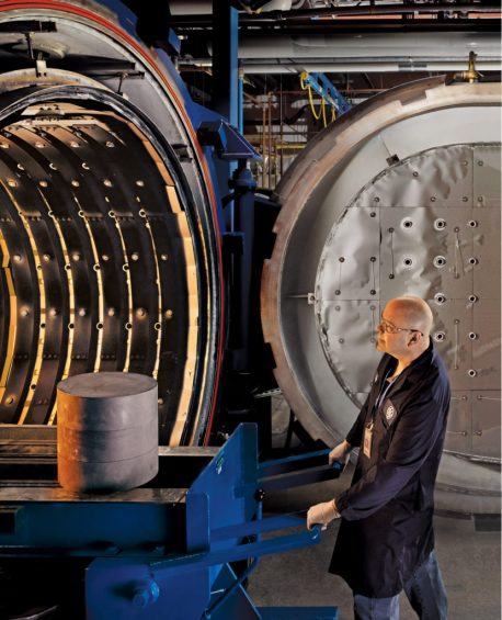 GE Aviation has created a blueprint to industrialize the production of CMC components, with factories in Alabama playing a major role. (GE Aviation)