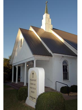 Meridianville Cumberland Presbyterian Church in Hazel Green, Madison County, was founded in 1807. (From Encyclopedia of Alabama, courtesy of The Huntsville Times)
