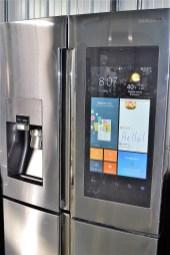 A Samsung smarthub refrigerator. (Katie Bolton / Alabama NewsCenter)