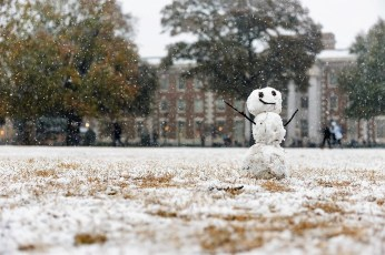 The University of Alabama has been blanketed with snow in previous seasons. (Strategic Communications/The University of Alabama)