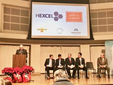 Officials announce an expansion of Hexcel's Decatur plant. (file)