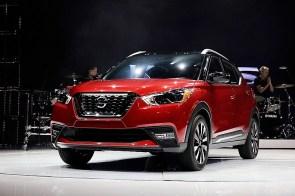Nissan Kicks SUV is on display in Los Angeles. (Troy Harvey/Bloomberg)