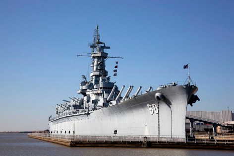 USS Alabama (BB-60), Mobile Bay, 2010. (The George F. Landegger Collection of Alabama Photographs in Carol M. Highsmith's America, Library of Congress, Prints and Photographs Division)