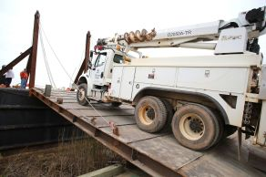 Southern Company companies, including Alabama Power and Georgia Power, shipped equipment to Puerto Rico in advance of crews that arrived Sunday to help restore infrastructure destroyed by Hurricane Maria. (Mike Kittrell / Alabama NewsCenter)