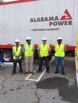 Alabama Power crew at staging area for Hurricane Irma restoration efforts. (Alabama NewsCenter/file)
