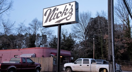 The sign is relatively new, but nothing else at Nick's has changed much. (Brittany Faush / Alabama NewsCenter)