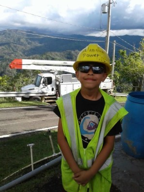 Johan Rosa Lopez helps Alabama Power crews translate when speaking with the locals in Puerto Rico. (contributed)