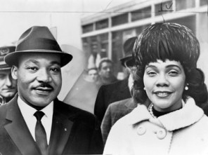 Dr. King is joined by wife Coretta. (Library of Congress)