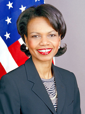 Birmingham native Condoleezza Rice (1954-) is a public servant and academic who served as National Security Advisor and Secretary of State during the George W. Bush administration. She is a faculty member at Stanford University and a senior fellow at the Hoover Institution, a conservative think tank. (From Encyclopedia of Alabama, courtesy of The U.S. Department of State)