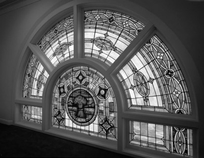 Stained-glass window at the Sixteenth Street Baptist Church. (Historic American Buildings Survey, Library of Congress Prints and Photographs Division)