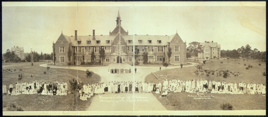 Woman's College of Alabama (later, Huntington College), Montgomery, April 17, 1918. (Richards Film Service, Library of Congress Prints and Photographs Division)