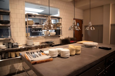 The dining-room plating station gives customers a closer look at the range of dishes Southern National has to offer. (Brittany Faush / Alabama NewsCenter)