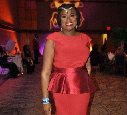 Dr. Jarralynne Agee attends the gala. (Photo courtesy The Birmingham Times)