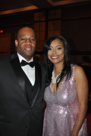 Kamonte and April Kelly attend the gala. (Photo courtesy The Birmingham Times)
