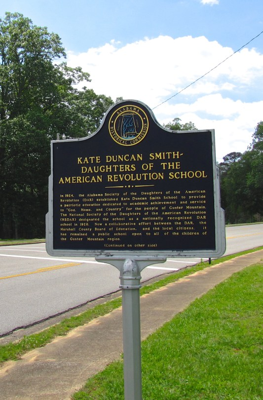 Historical marker at the Kate Duncan Smith DAR School in Grant, Alabama, United States. (Brian Stansberry, Wikipedia)