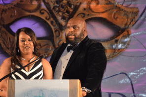 Event co-hosts Pastor and Mrs. John Gray. (Photo courtesy The Birmingham Times)