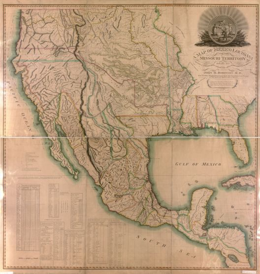 A map of Mexico, Louisiana and the Missouri Territories, c. 1819. (John Narstin, H. Anderson, Library of Congress Geography and Map Division)