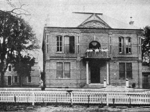 The State Normal School in Daphne, Baldwin County, operated during the early twentieth century to train white teachers. The school was founded in the former Baldwin County courthouse after the county seat was moved to Bay Minette in 1901. (From Encyclopedia of Alabama, courtesy of the A. S. Williams III Americana Collection. The University of Alabama Libraries)