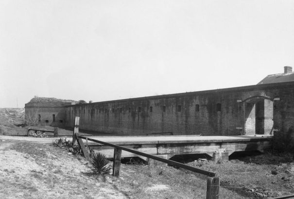 Entrance at Fort Gaines, Dauphin Island, March 17, 1934. (Photograph by W.N. Manning, HABS, Library of Congress, Prints and Photographs Division)
