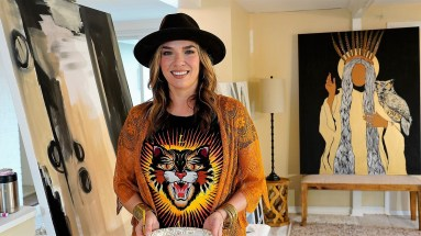 Maples has always loved painting but decided to open her own studio just five years ago. (Mark Sandlin/Alabama NewsCenter)