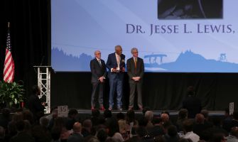 Dr. Jesse J. Lewis Sr., founder of the Birmingham Times, was honored at the luncheon. (Bruce Nix/Alabama NewsCenter)