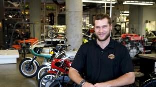 Mitch Cobb is one of the restoration specialists at Barber Vintage Motorsports Museum. (Mark Sandlin / Alabama NewsCenter)