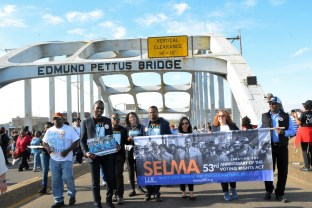 The Faith & Politics Institute Pilgrimage culminated in a commemoration of the 1965 Bloody Sunday march across the Edmund Pettus Bridge in Selma. (Stephonia Taylor McLinn/The Birmingham Times)