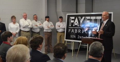Fayette needed more industry, and city leaders worked hard to bring Fayette Fabrication to town in 2014. (City of Fayette)