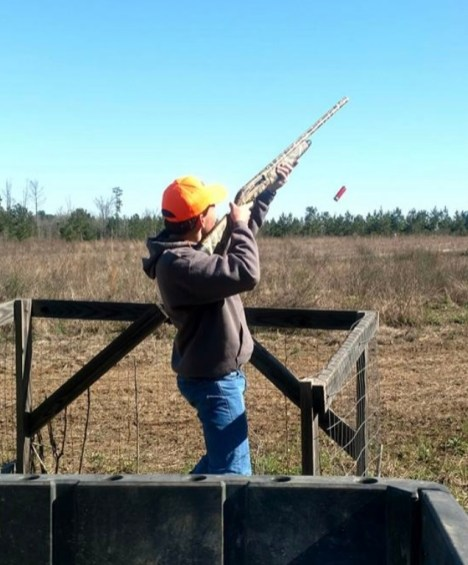 One of the Kidz Outdoors hunters fires off a shot. (contributed)