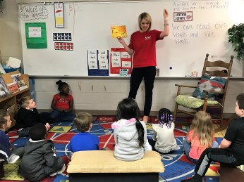 APSO volunteers were among those who read to students in Anniston during Read Across America week. (contributed)