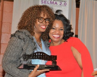 LaTosha Brown, cofounder of Black Voters Matter, and Ainaka Saunders Jackson. (Stephonia Taylor McLinn/The Birmingham Times)