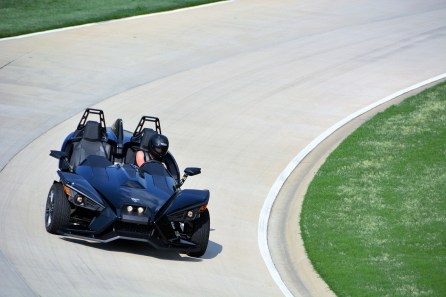 A Polaris Slingshot on Barber's Proving Ground track. (Barber Motorsports Park and Museum)