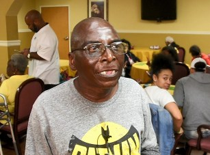"""South Rehabilitation resident Rufus Barnes admits he's not much of a basketball fan but he is rooting for Ramsay girls basketball in Saturday's championship game. The Rams will win, he said, """"because they're good."""" (Solomon Crenshaw Jr. / Alabama NewsCenter)"""