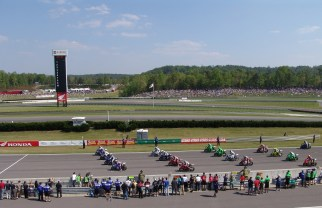 Bikes line up for a race at Barber. (Barber Motorsports Park and Museum)