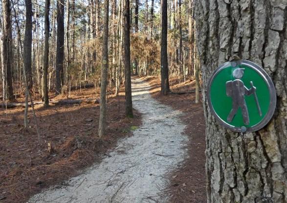 Trail at the Kreher Nature Preserve. (Copyright © Lew Scharpf)