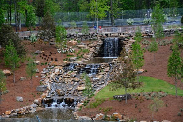 This waterfall is among recent additions at Barber Motorsports Park. (Barber Motorsports Park and Museum)